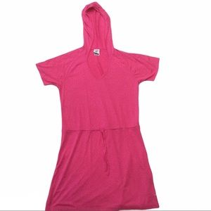 SPEEDO Pink hooded cover up with drawstring waist
